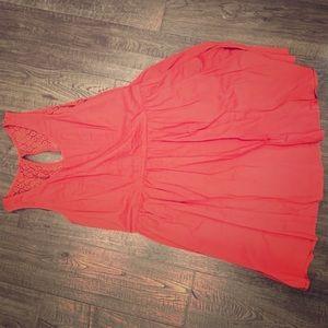 Lauren Conrad size 16 pink sun dress